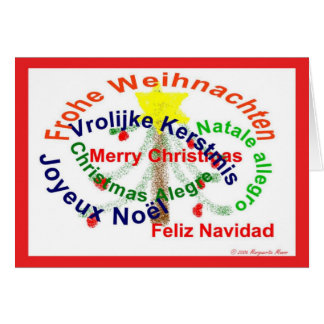 Merry Christmas in Seven Languages Card