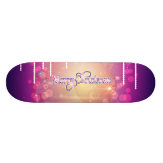Merry christmas in soft pink skate boards