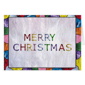 Merry Christmas in Stained Glass Card