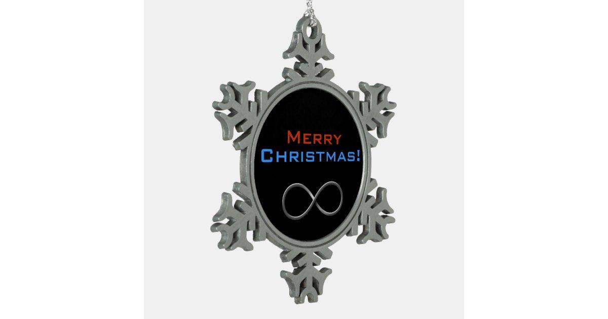 Merry Christmas Infinity | Geek Gifts Snowflake Pewter ...