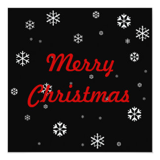 Merry Christmas * 5.25x5.25 Square Paper Invitation Card