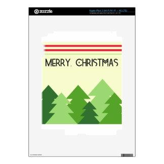 Merry Christmas! iPad 3 Decals