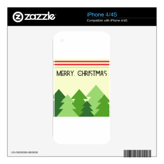 Merry Christmas! iPhone 4 Decal