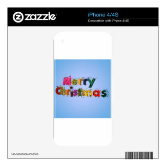 Merry Christmas iPhone 4 Skins