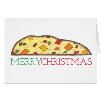 Merry Christmas Italian Biscotti Food Holiday Card