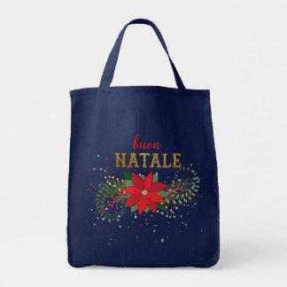 Merry Christmas Italian Buon Natale Tote Bag
