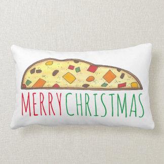 Merry Christmas Italian Fruitcake Biscotti Pillow
