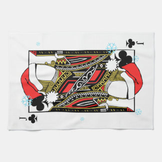 Merry Christmas Jack of Clubs - Add Your Images Kitchen Towel