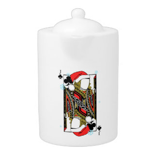 Merry Christmas Jack of Clubs - Add Your Images Teapot