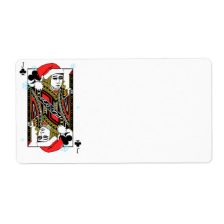 Merry Christmas Jack of Clubs Label