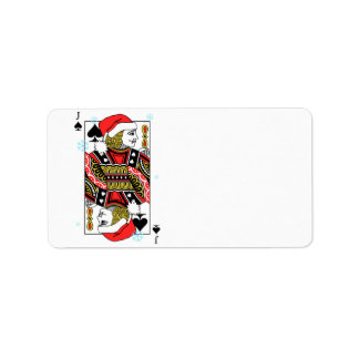 Merry Christmas Jack of Spades Label