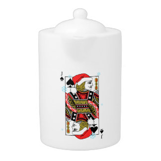 Merry Christmas Jack of Spades Teapot