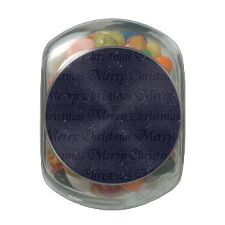Merry Christmas Jelly Belly Candy Jar