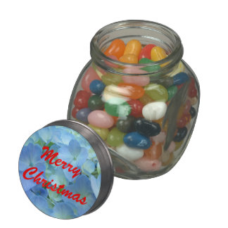 Merry Christmas Jelly Belly candy tins Hydrangeas