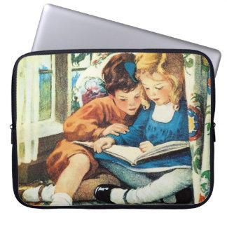 Merry Christmas, Jessie Willcox Smith Fine Art Laptop Computer Sleeve