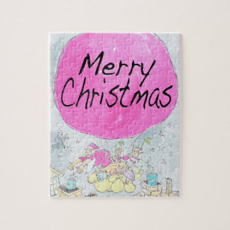 Merry Christmas, jigsaw puzzle. Jigsaw Puzzle