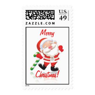Merry Christmas Jolly Saint Nick Stamp