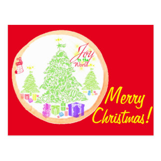 Merry Christmas!  Joy to the World Cookie Postcard