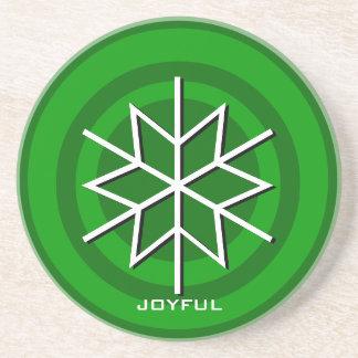 Merry Christmas Joyful Coaster Snowflake