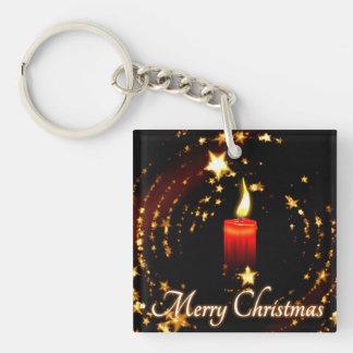 Merry Christmas Square Acrylic Key Chains