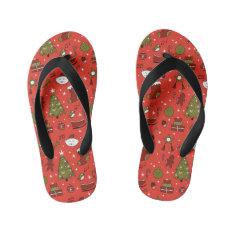 Merry Christmas Kid's Flip Flops at Zazzle