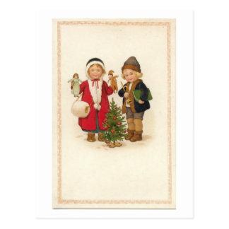 Merry Christmas Kids Postcards
