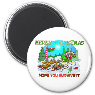 Merry Christmas Killings 2 Inch Round Magnet