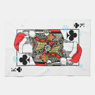 Merry Christmas King of Clubs - Add Your Images Kitchen Towel