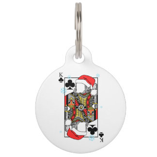 Merry Christmas King of Clubs - Add Your Images Pet ID Tag