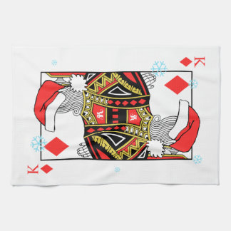 Merry Christmas King of Diamonds - Add Your Images Hand Towel