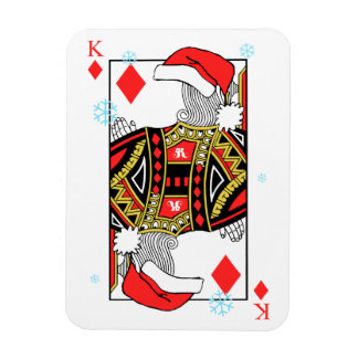Merry Christmas King of Diamonds - Add Your Images Rectangular Photo Magnet