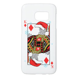 Merry Christmas King of Diamonds - Add Your Images Samsung Galaxy S7 Case
