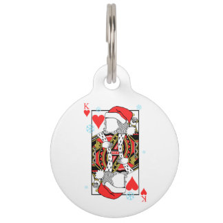 Merry Christmas King of Hearts - Add Your Images Pet Tag