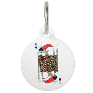 Merry Christmas King of Spades - Add Your Images Pet ID Tag