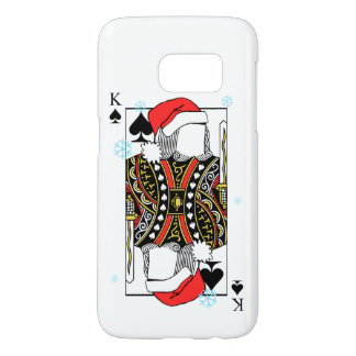 Merry Christmas King of Spades - Add Your Images Samsung Galaxy S7 Case