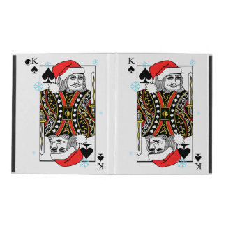 Merry Christmas King of Spades iPad Case