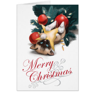 Merry Christmas Kitten Card