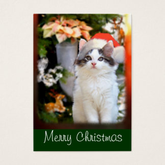 Merry Christmas Kitten Gift Tags