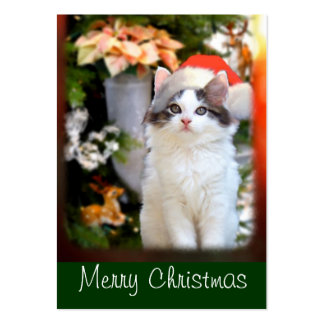 Merry Christmas Kitten Gift Tags Large Business Card