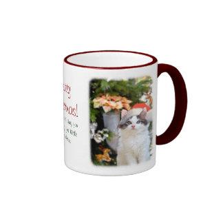 Merry Christmas Kitten Mug