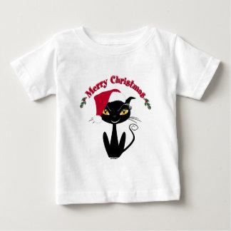 Merry Christmas Kitty Cat Baby T-Shirt