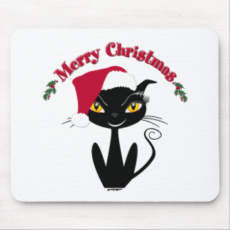 Merry Christmas Kitty Cat Mouse Pad