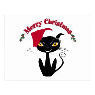 Merry Christmas Kitty Cat Postcard