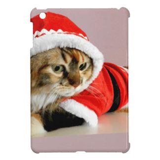 Merry Christmas kitty cat Santa suit iPad Mini Covers