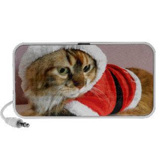 Merry Christmas kitty cat Santa suit Mini Speaker