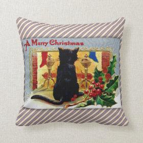 Merry Christmas Kitty Pillow