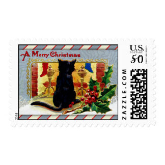 Merry Christmas Kitty Postage