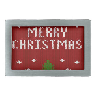 merry Christmas,knitting,pattern,green,red,cozy, Belt Buckle