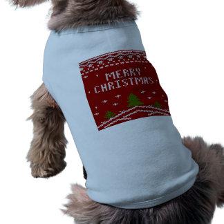 merry Christmas,knitting,pattern,green,red,cozy,tr Shirt