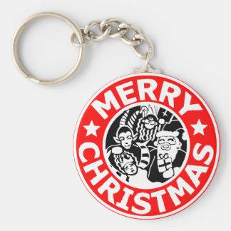 Merry Christmas Krampus Logo Keychain